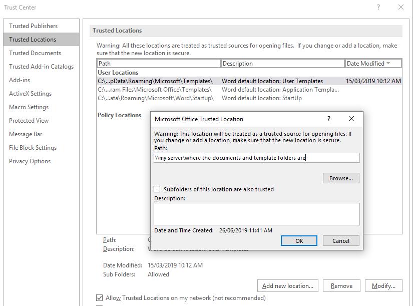 Error 5981, 5460 Application defined or Object defined error when